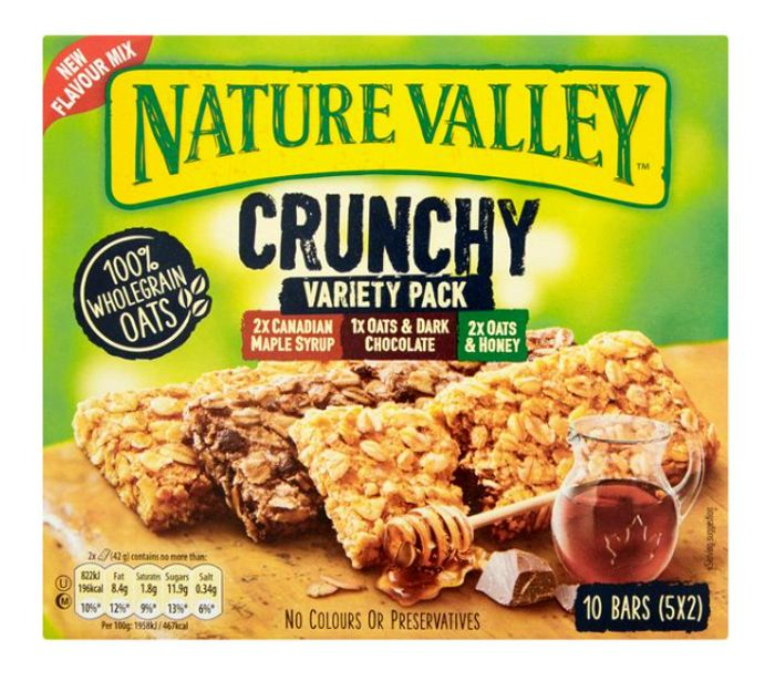 Nature Valley Crunchy Variety Granola Bars 5x - Now £1