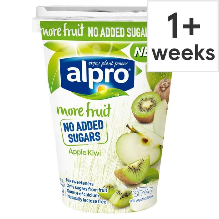 Alpro More Fruits No Added Sugar Apple Kiwi Yogurt 400G