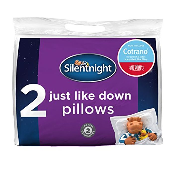 Silentnight Just like down Pillow - Pack of 2