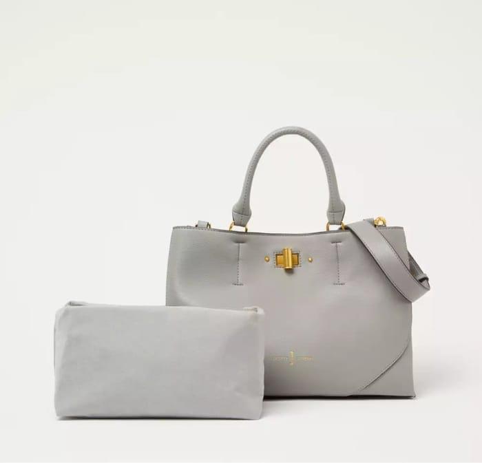 J by Jasper Conran - Grey Small 'City' Twist Lock Grab Bag