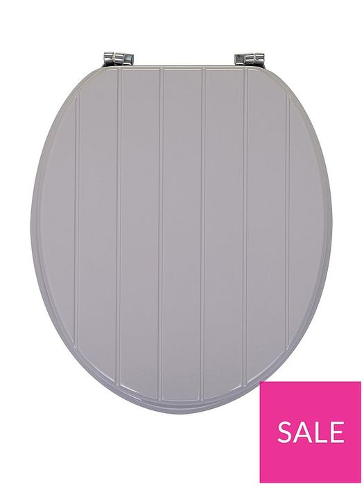 AQUALONA Grey Tongue and Groove Toilet Seat