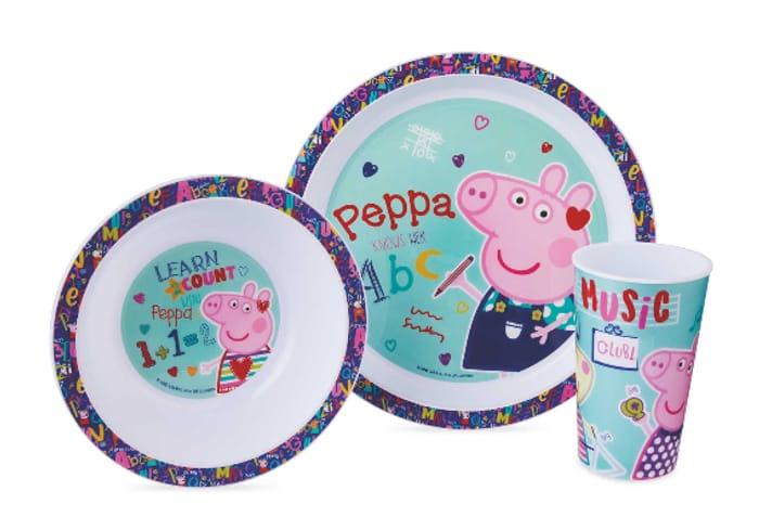 Preschool Peppa Pig Breakfast Set