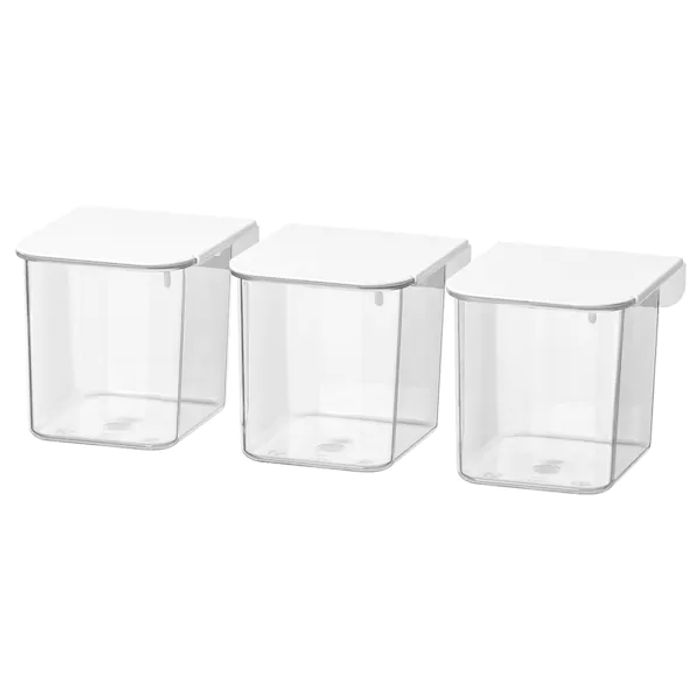Container with Lid, White