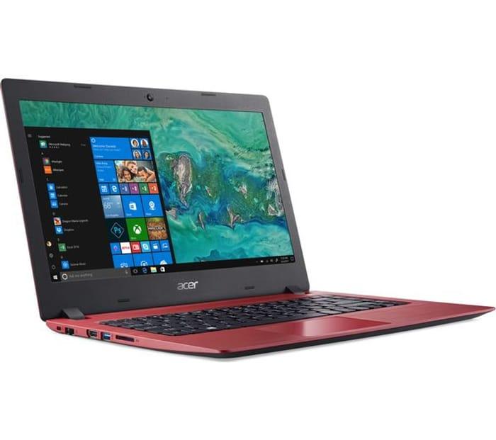 "*SAVE £100* ACER Aspire 1 14"" Laptop - Intel Celeron, 64 GB eMMC, Red"