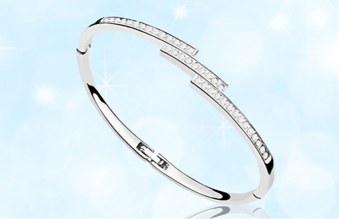 Swarovski Elements Triple Crystal Row Bracelet - 1 or 2 + EXTRA 10% Off