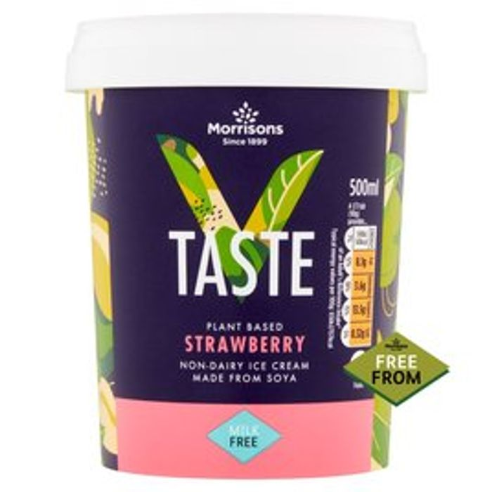 Morrisons v Taste Free from Soya Strawberry Ice Cream 500ml