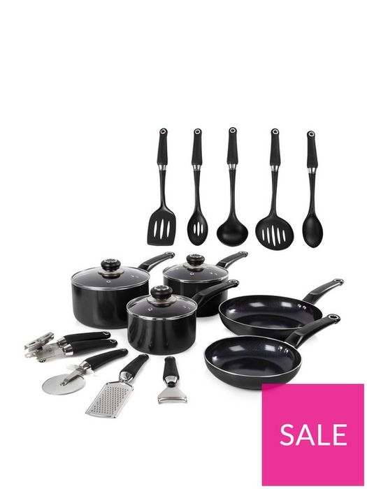 *SAVE £21* Morphy Richards 14-Piece Cookware Set in Black
