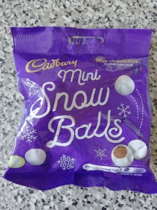 Cadburys Mini Snow Balls.
