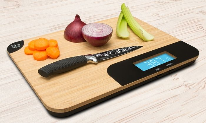 Large Chopping Board with Scales