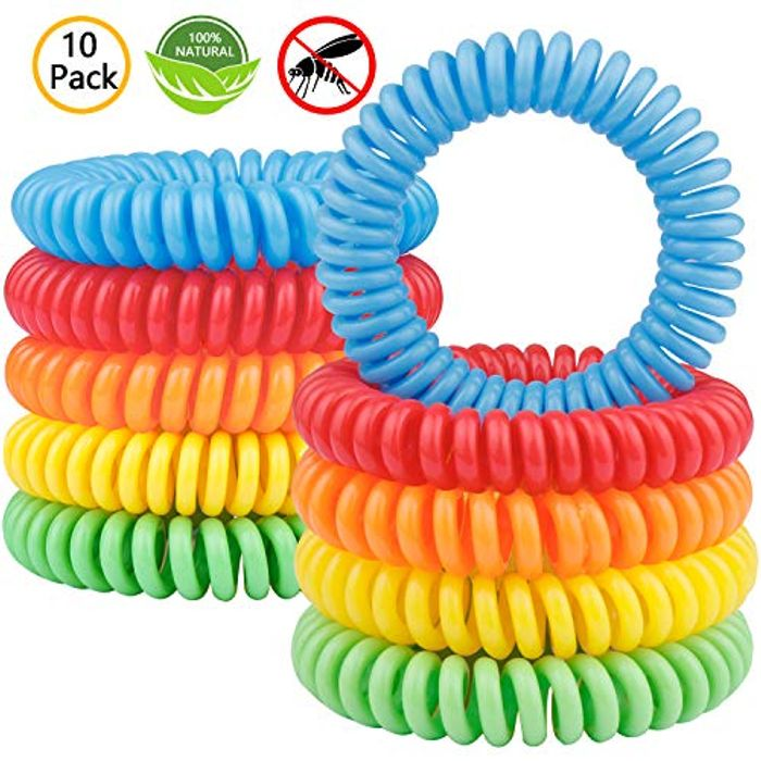 Gritin Mosquito Repellent Bracelet, (10 Pack) All Natural DEET Free