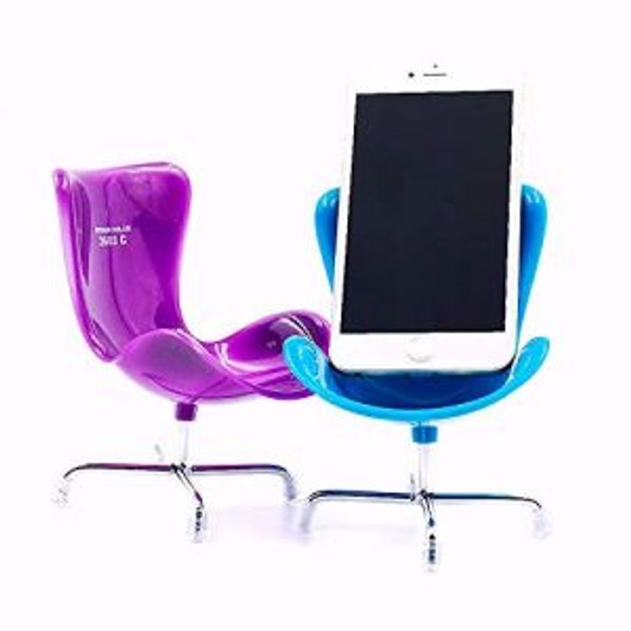 Mobile Phone Holder Novelty Chair Desk Stand iPhone Samsung - Assorted Colours