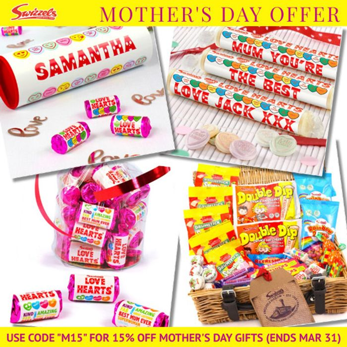 15% off Mother's Day Gifts