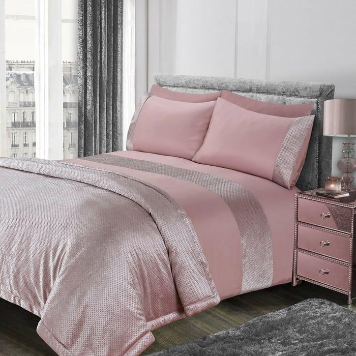 Glitter Duvet Cover with Pillow Case Sparkle Velvet Bedding Set Different Size
