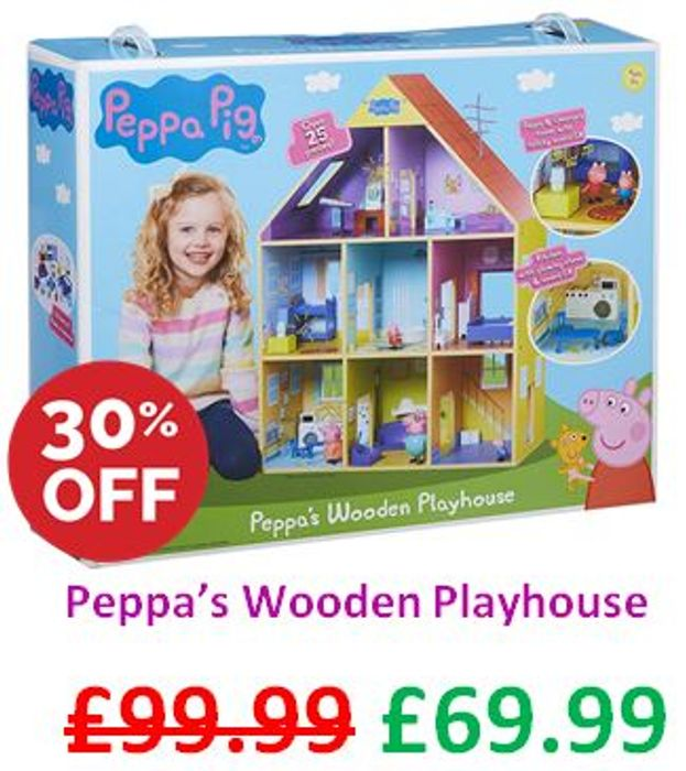 £30 OFF! Peppa Pig Wooden Playhouse