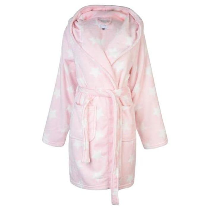 ROCK and RAGS Printed Hooded Robe Ladies save £8.99