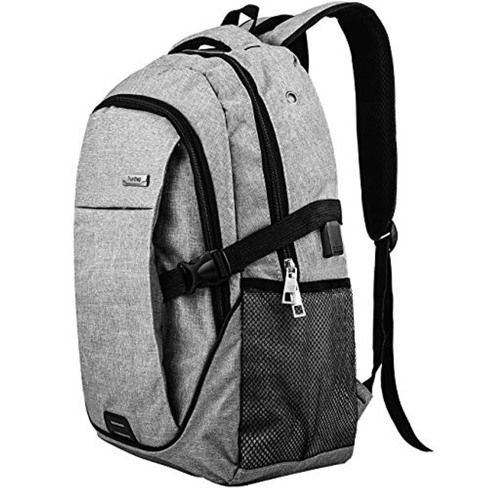 Laptop Backpack with USB Charging Port Lightweight Travel Backpack (Grey-1)