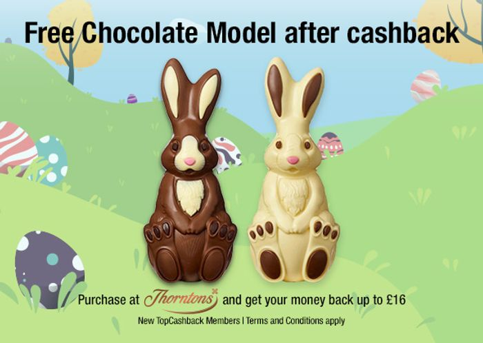 Free Thorntons Chocolate Bunnies after Cashback