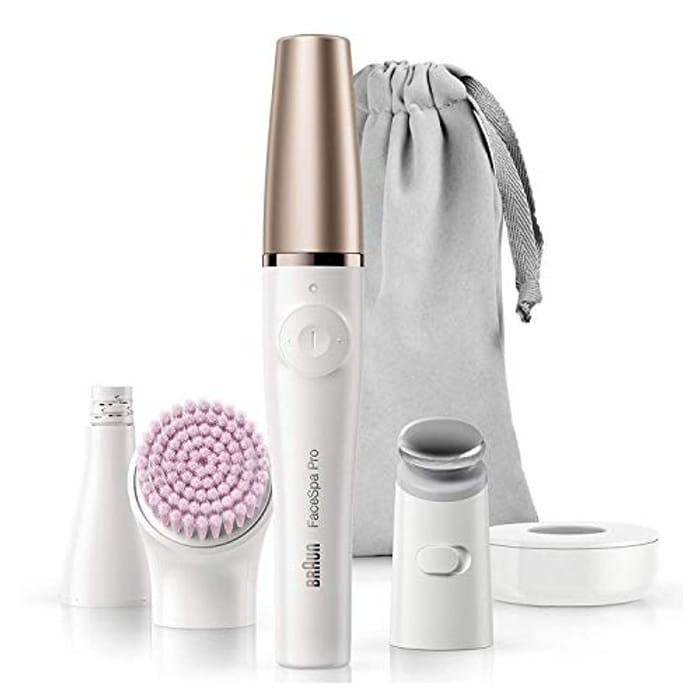 Braun FaceSpa Pro 912 Face Epilator, Cleansing and Skin Toning System