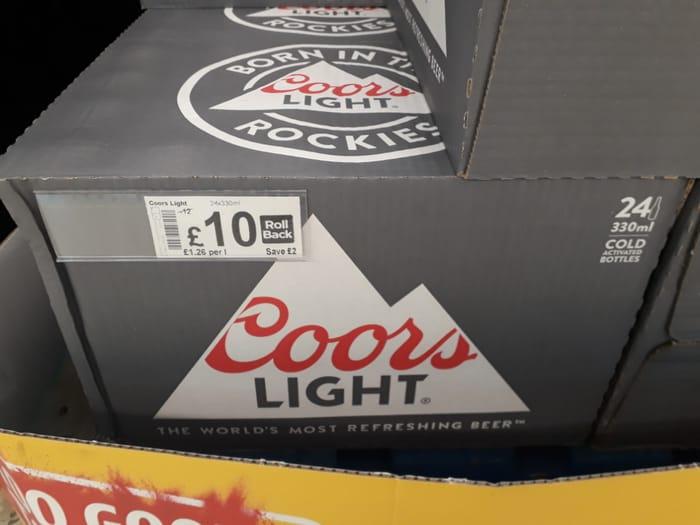24x330ml Coors Light Bottles