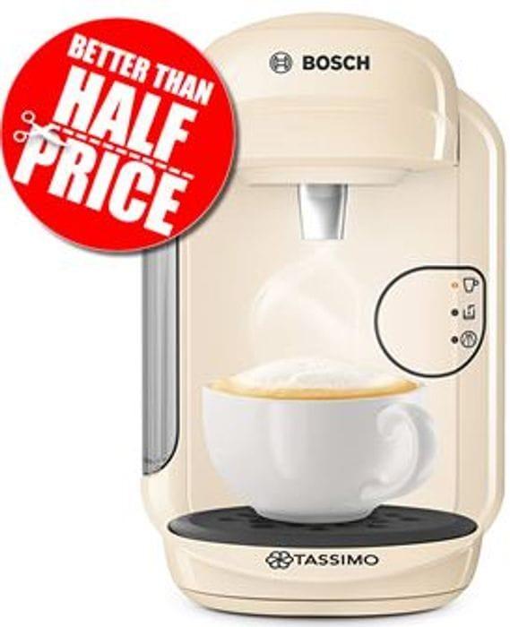 Cheap Bosch TASSIMO Vivy 2 Coffee Machine - Cream or Black, Only £39.99!