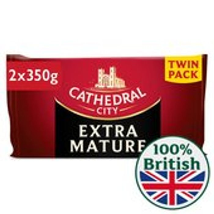 Cathedral City Extra Mature Cheese Twin Pack 2 X 350g 700g