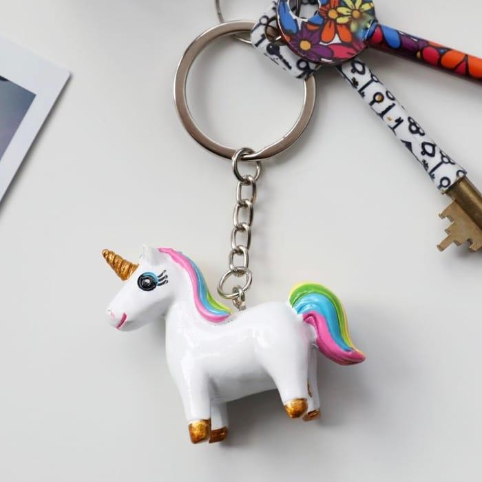 Colourful Unicorn Keyring