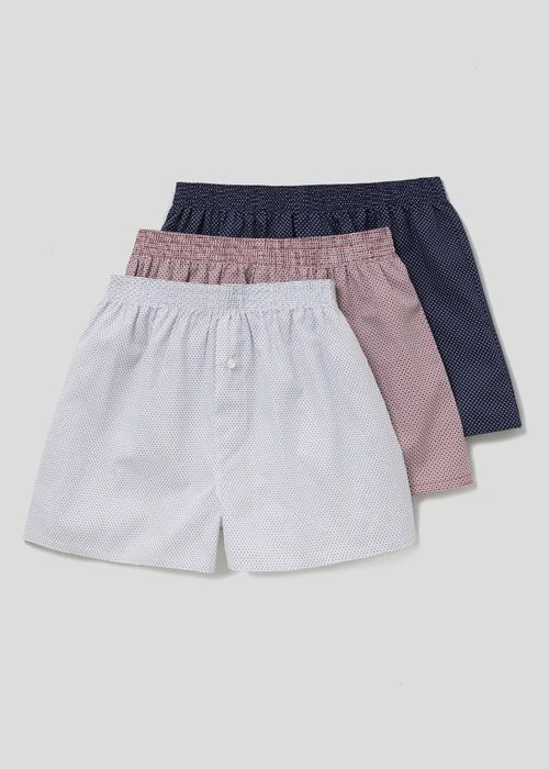 Men's 3 Pack Cotton Woven Boxers - save £7