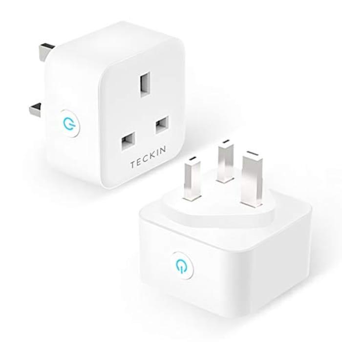 2 Pack Smart Plug TECKIN 13A WiFi Socket