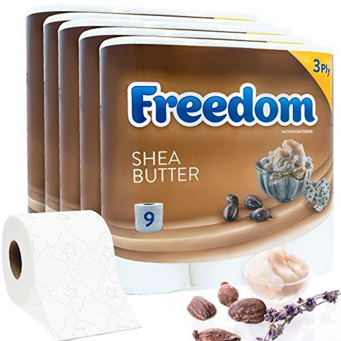 Luxury 3Ply Quilted Shea Butter Toilet Tissue