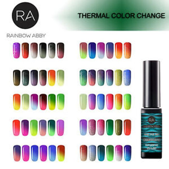 6x 8x Set Thermal Colour Change Color Changing Gel Polish UV LED Soak off Nail