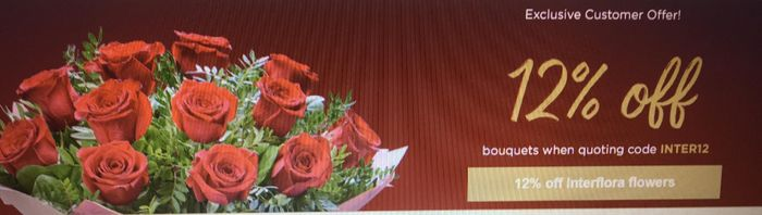 12% off Bouquets