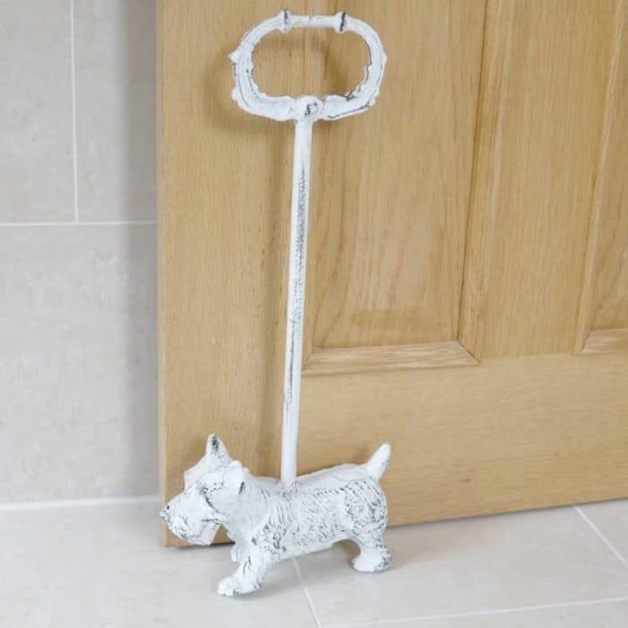 Hurn & Hurn Discoveries Westie Dog Metal Doorstop with Handle