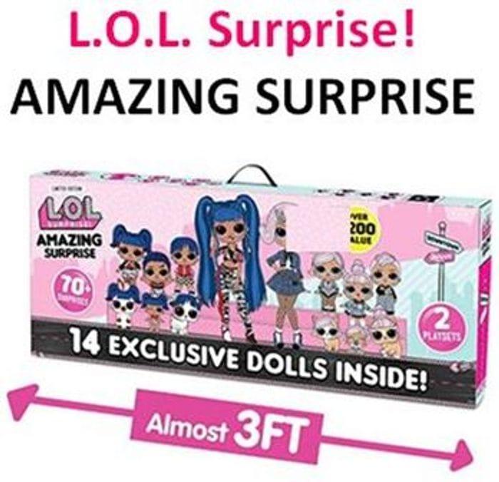 £40 off at AMAZON! L.O.L. Surprise! Amazing Surprise - 14 Dolls & 70+ Surprises
