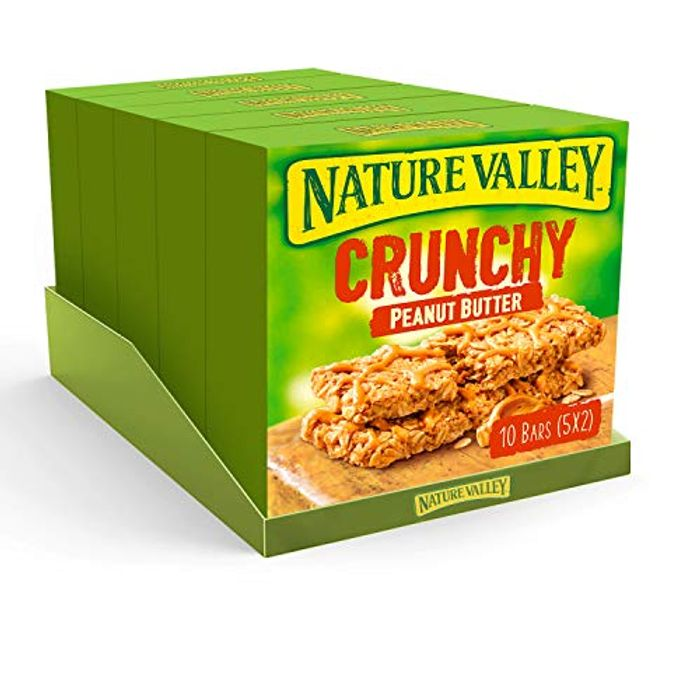 Nature Valley Crunchy Peanut Butter Cereal Bars 42g (Pack of 25 Bars) (5 Packs)