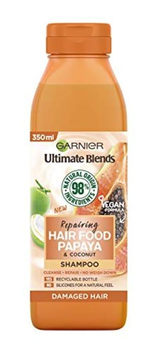 Garnier Ultimate Blends Papaya Shampoo for Damaged Hair, 350 Ml