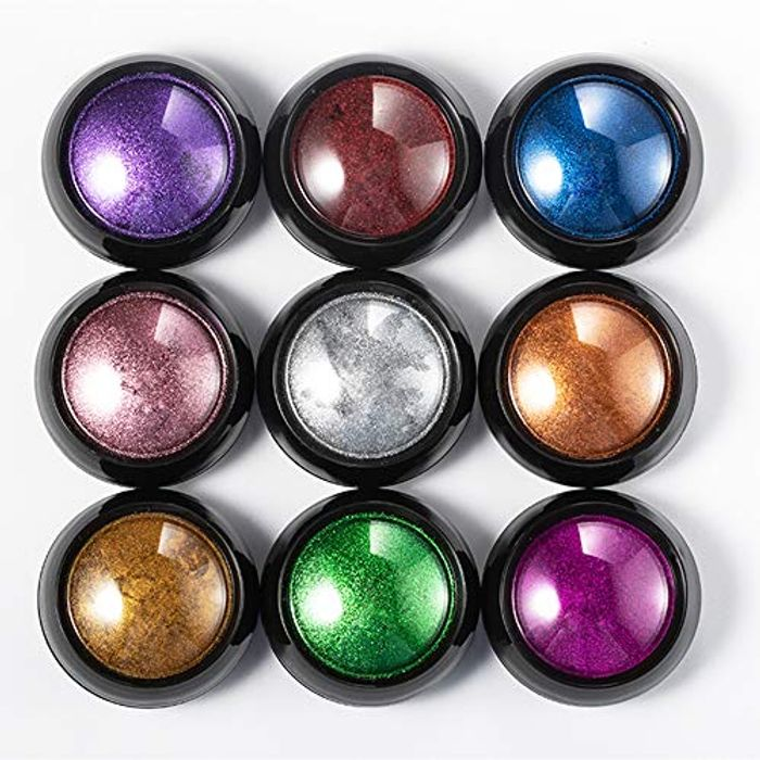18 Boxes Nail Powder Metallic Chrome Nail Powder Mirror Effect