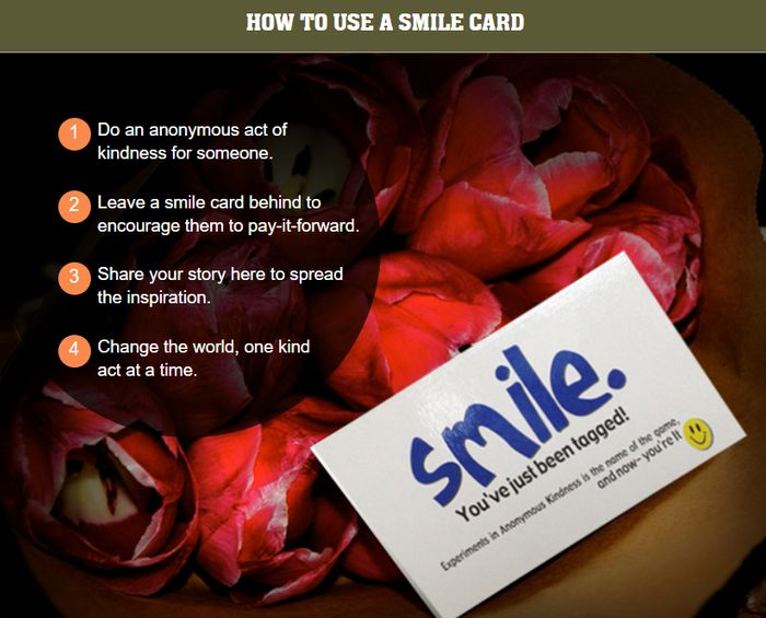 Order Pre Printed Smile Cards Free Worldwide - Is Kindness Truly Contagious?