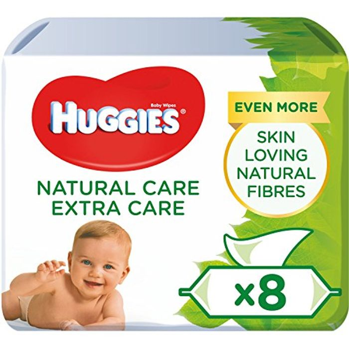 Huggies Natural Care Extra Care Baby Wipes, 8 Packs (448 Wipes)