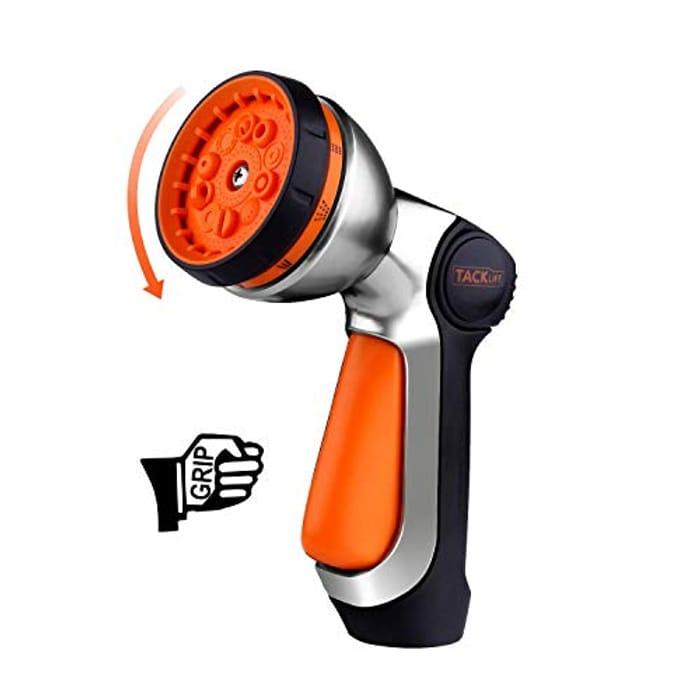 Price Drop! TACKLIFE Garden Hose Nozzle, 10 Adjustable Watering Patterns