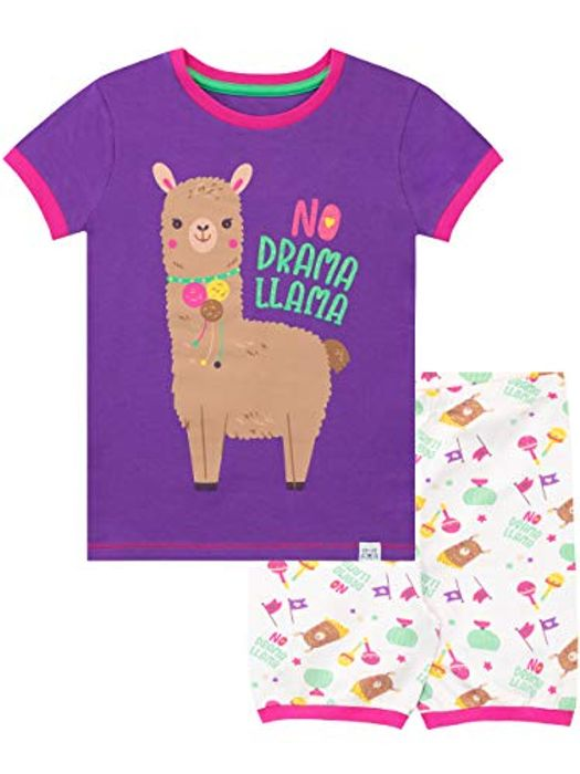 Price Drop! Harry Bear Girls Llama Short Pyjamas