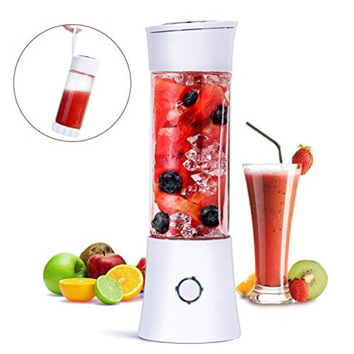 Portable Blender, Fityou Travel Blender Smoothie Maker 480ML USB Rechargeable