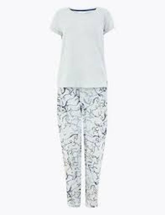 Horse Print Short Sleeve Pyjama Set