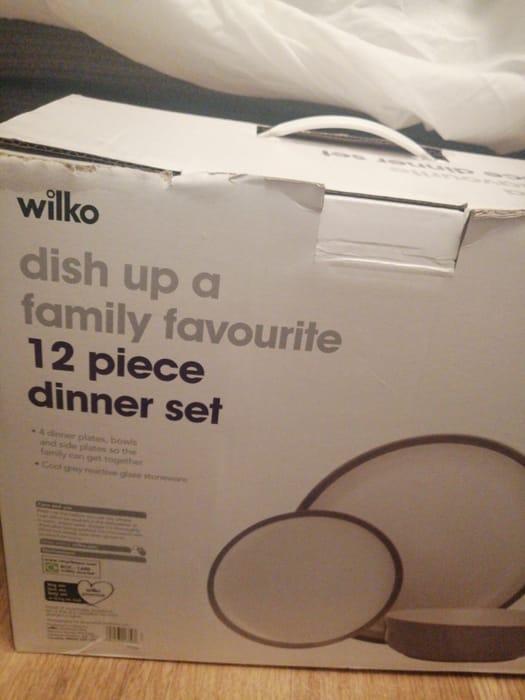 12 Piece Dinner Set for £10 at Wilkos