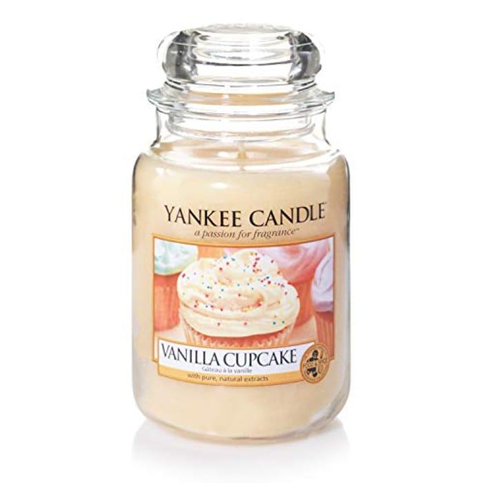 Yankee Candle Large Jar Scented Candle, Vanilla Cupcake
