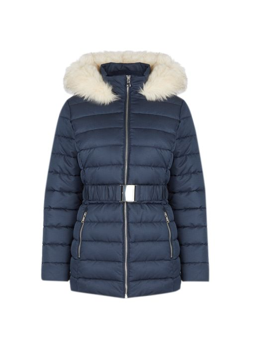 Petite Navy Short Padded Coat Down From £55 to £20