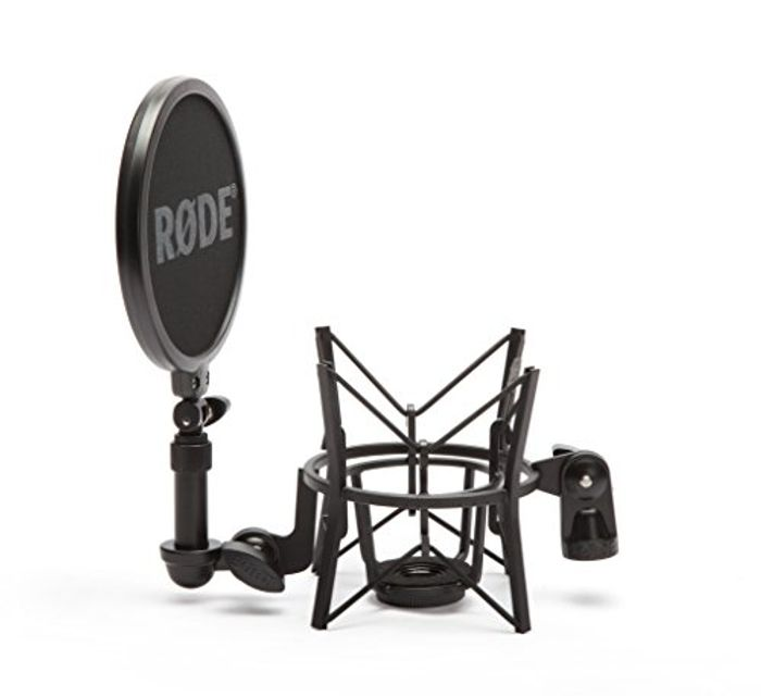 RDE SM6 Microphone Shock Mount with Integrated Pop Shield