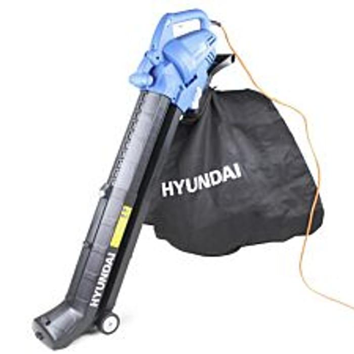 Hyundai HYBV3000E 3000W 3-in-1 Leaf Blower, Garden Vacuum & Shredder