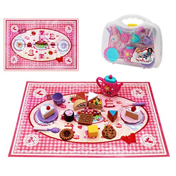 26pcs Tea Cup and Desert Role Play Set