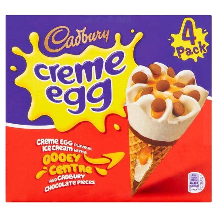 Cadbury Creme Egg Cones 4 X 100ml