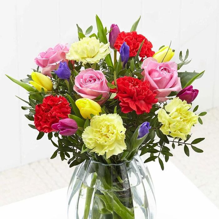 Free Mothers Day Bright Bouquet Pay Only P&P